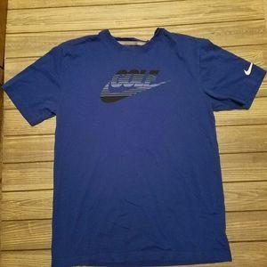 Nike blue golf dri fit shirt
